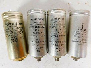 BOSCH GERMANY & SIEMENS 240V 16MFD 4個 保証外品 [22621]