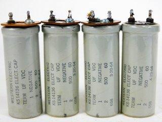 Western Electric KS-14136 60V 500MFD 4個 保証外品 [22793]