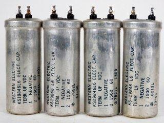 Western Electric KS-19846L6 60V 1500MFD 4個 保証外品 [22796]