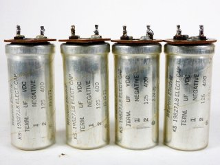 Western Electric KS-19827L8 400V 125MFD 4個 保証外品 [22800]