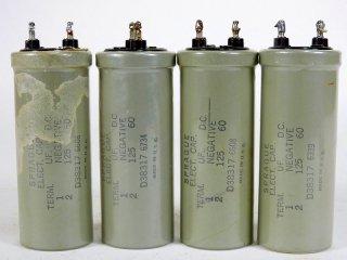 Western Electric D-38317 60V 125MFD 4個 保証外品[22801]