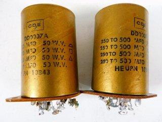 U.S.A コーネル 50V 250〜500MFD 2個 [22807]
