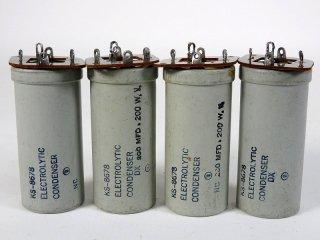 Western Electric KS-8678 200V 200MFD 4個 保証外品 [22860]