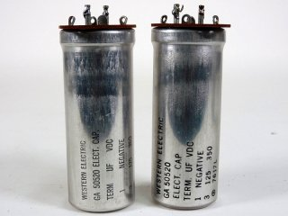 Western Electric GA-50520 350V 125MFD 2個 保証外品 [22864]