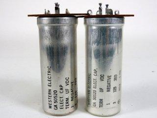 Western Electric GA-50520 350V 125MFD 2個 保証外品 [22865]