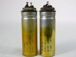 Western Electric GA-51016 450V 80MFD 2個 保証外品 [22873]