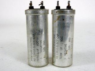 Western Electric KS-13810 350V 125MFD 2個 保証外品 [22914]