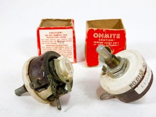 OHMITE 350Ω 25W POTENTIOMETER 2個 [23694]