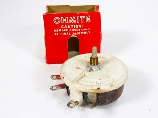 OHMITE 125Ω 0.89A 100W POTENTIOMETER 1個 [23700]