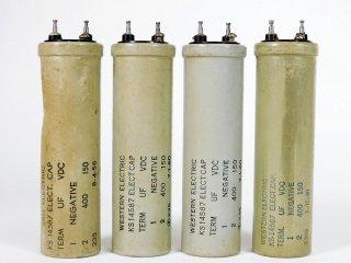 Western Electric KS-14587 150V 400MFD 4個 [23774]
