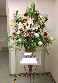 紅白カラースタンド花