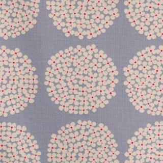 【cotton canvas】北欧風サークルブーケ×10番コットンキャンバス|ブルーグレー|