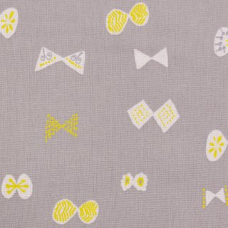 【cotton linen】チョウチョ×コットンリネンキャンバス|KIRUMA|by masanori inui|グレー|