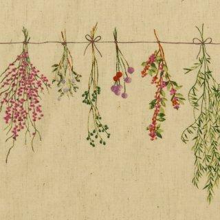 botanicalスワッグ×コットンリネン|やわらかコットンリネンシーチング|ナチュラル|