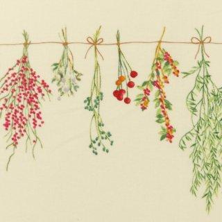 botanicalスワッグ×コットンリネン|やわらかコットンリネンシーチング|オフホワイト|