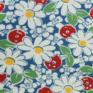 【USAcotton】DAISY×cotton|modafabrics|コットンシーチング|スモーキーブルー|