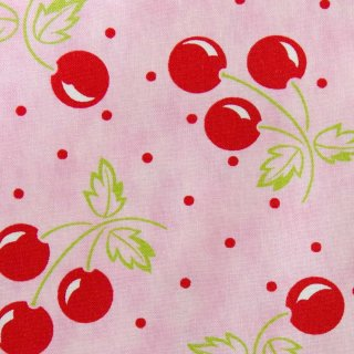 【USAcotton】cherries galore×cotton|moda FABRICS|モダファブリックス|ピンク|