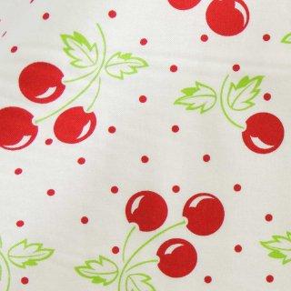 【USAcotton】cherries galore×cotton|moda FABRICS|モダファブリックス|ホワイト|