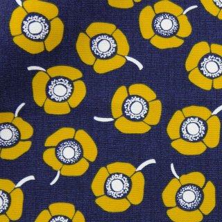 【コットンオックス】anemone×cotton|アネモネ×オックス|花柄|北欧風|ネイビー|