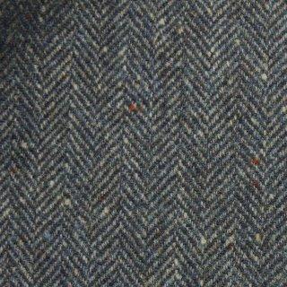 【wool】カラーネップへリンボーンフラノ|トップ糸|アパレル使用|グレイッシュネイビー|