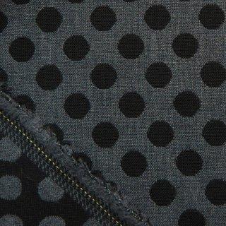 【wool】2重織のウールドットジャガード|ドット柄|モノトーン|