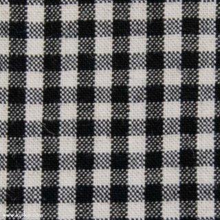【cotton linen】ナチュラルウォッシュ仕上げのコットンリネン|2mmギンガム|ブラック|