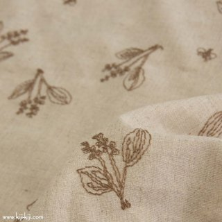 【cotton linen】botanical lace×cotton linen sheeting|スズラン|ベージュ|<img class='new_mark_img2' src='https://img.shop-pro.jp/img/new/icons5.gif' style='border:none;display:inline;margin:0px;padding:0px;width:auto;' />
