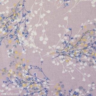 【cotton linen】natural bouquet×cotton linen|やわらかコットンリネンシーチング|グレイッシュラベンダー|
