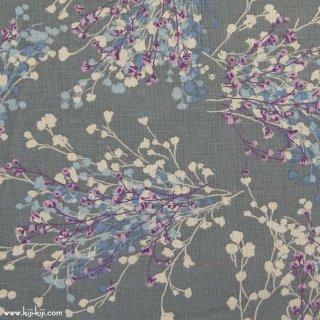 【cotton linen】natural bouquet×cotton linen|やわらかコットンリネンシーチング|グレー|
