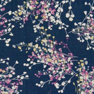【cotton linen】natural bouquet×cotton linen|やわらかコットンリネンシーチング|ネイビー|
