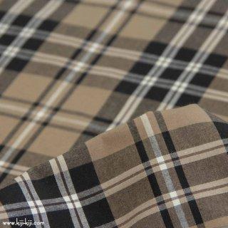 【cotton】秋色の先染めチェック|40/1ハイカウントチェック|アパレル使用|タータンチェック|