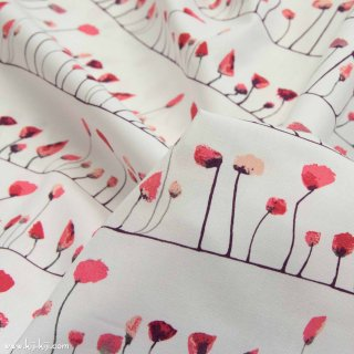 【USAコットン】Petal Flamingoes Coo|ART GALLERY FABRICS|ホワイト|