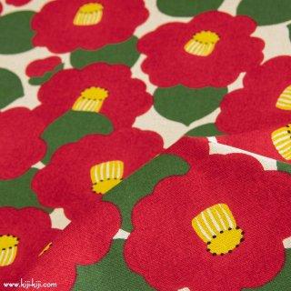 【cotton linen】TSUBAKI-ツバキ-|コットンリネンキャンバス|ナチュラル|