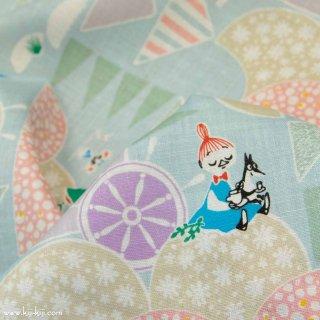 【cotton linen】Moomin fabrics|夢で会いましょう|ハーフリネンシーチング|ムーミン|ミズイロ|