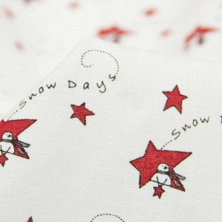 【USAコットン】Merry merry snow days|Christmas|クリスマス|スター ホワイト|