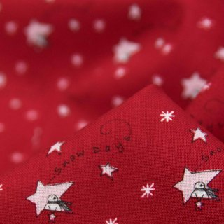 【USAコットン】Merry merry snow days|Christmas|クリスマス|スター レッド|