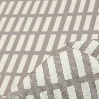 【コットンオックス】ニュアンスカラーのけん盤ストライプ|グレー|