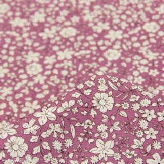 【cotton】スモーキーカラーのシンプルブーケ コットンブロード 小花柄 スモークプラム 