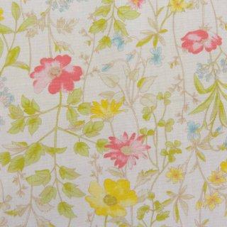 【コットンブロード】  English Garden Flowers|cotton broadcloth|花柄|ホワイト|