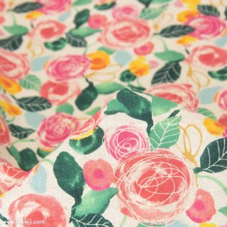 【cotton linen】classical rose garden|クラシカルローズガーデン|コットンリネンシーチング|ナチュラル|<img class='new_mark_img2' src='https://img.shop-pro.jp/img/new/icons5.gif' style='border:none;display:inline;margin:0px;padding:0px;width:auto;' />