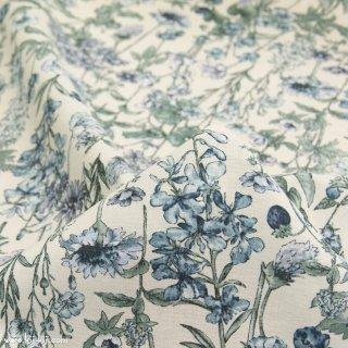 【cotton】English Flower Garden|コットンスケア|花柄|ネイビートーン|