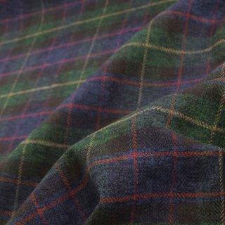 【cotton tweed】コットンで織ったハリスツイード風チェック|コットンツイード|タータンチェック|グリーン|
