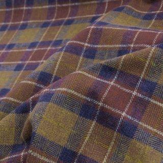 【cotton tweed】コットンで織ったハリスツイード風チェック|コットンツイード|タータンチェック|ブラウンネイビー|