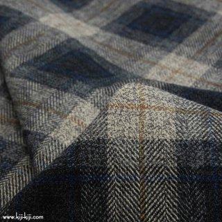 【cotton tweed】コットンで織ったハリスツイード風チェック|コットンツイード|タータンチェック|グレー|