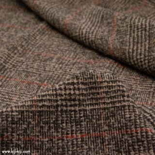 【wool】ふんわりウールループチェック|ループ糸|グレンチェック|ベージュ|