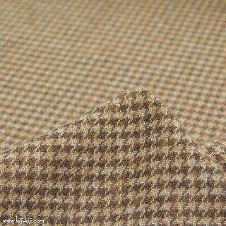 【cotton tweed】コットンで織ったハリスツイード風チェック|コットンツイード|千鳥格子|ベージュ|