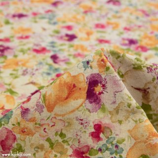 【cotton linen】classical flowers|クラシカルフラワー|コットンリネンシーチング|クラシカルレッド|<img class='new_mark_img2' src='https://img.shop-pro.jp/img/new/icons5.gif' style='border:none;display:inline;margin:0px;padding:0px;width:auto;' />