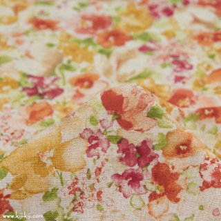 【cotton linen】classical flowers|クラシカルフラワー|コットンリネンシーチング|ベイクドオレンジ|<img class='new_mark_img2' src='https://img.shop-pro.jp/img/new/icons5.gif' style='border:none;display:inline;margin:0px;padding:0px;width:auto;' />