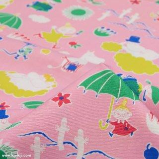 【cotton】Moomin fabrics|ムーミン|コットンオックス|ピンク|