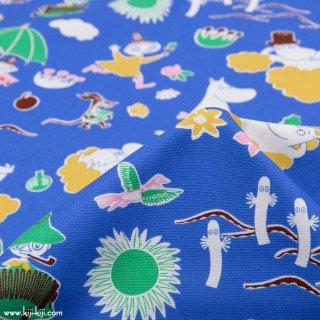 【cotton】Moomin fabrics|ムーミン|コットンオックス|ブルー|